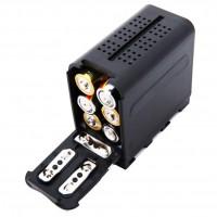 Адаптер для аккумуляторов AA для установки в разъем для батарей NP-F970