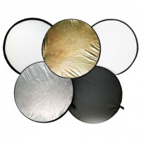 """Пятицветный круглый отражатель """" 5 в 1 """" диаметр 110 см"""