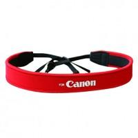 Шейный ремень для фотоаппаратов Canon, красный (неопрен)