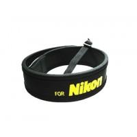 Шейный ремень для фотоаппаратов Nikon, черный (неопрен)