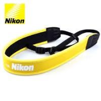 Шейный ремень для фотоаппаратов Nikon, желтый (неопрен)