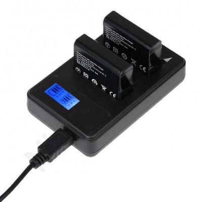Набор из 2 аккумуляторов 1600mAh AHDBT-401 и зарядного  устройства для GoPro