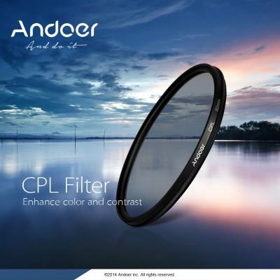 Фильтр Andoer циркулярно-поляризационный c резьбой 77 мм