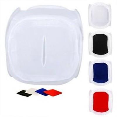 Белый лайт-куб с четырьмя сменными фонами для предметной съемки 90x90 см