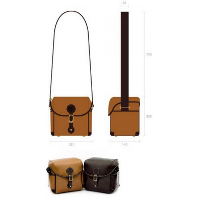 Кожаная плечевая сумка Comelyhome для фотоаппарата в ретро стиле
