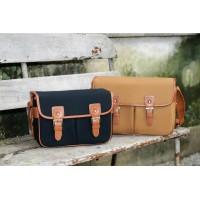 Винтажная холщевая сумка HaTe H120/H110 с кожаным ремешком